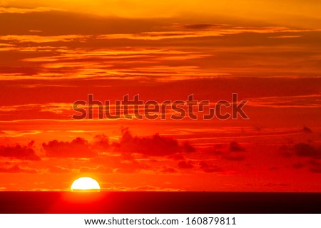 sunset on the Laem Phrom Thep Phuket , Thailand  - stock photo