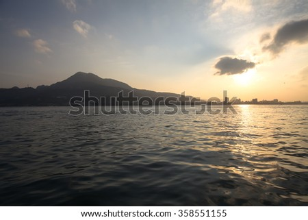 Sunset on the Tamsui River