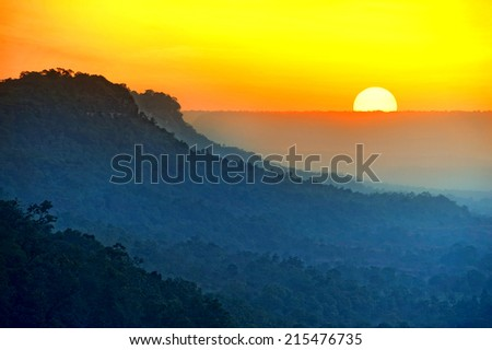 Sunset on Valley View - stock photo