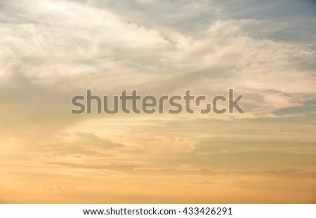Sunset or sunrise Sky Background,sunset or sunrise with orange sky - stock photo