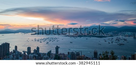 Sunset over Hongkong