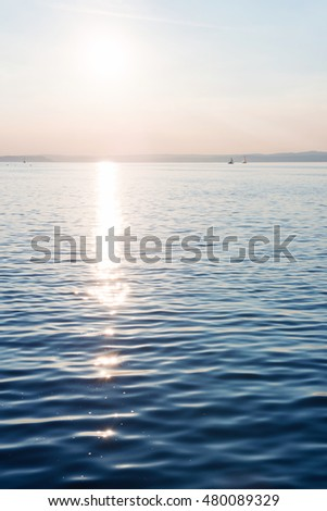 Sunset over Lake Balaton in Siofok, Hungary