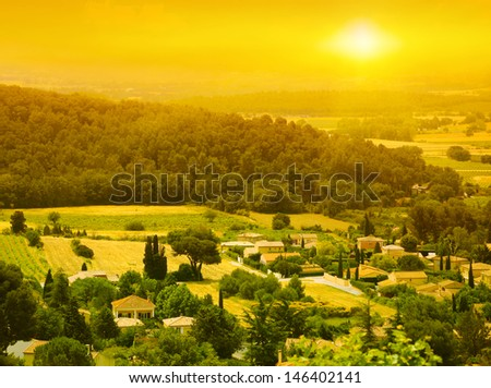 Sunset over Provence. France.