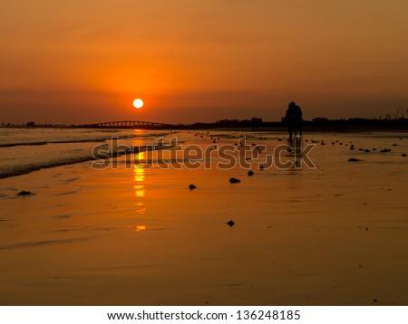 Sunset over Southwest Florida - stock photo