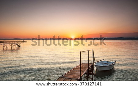 Sunset over the Balaton