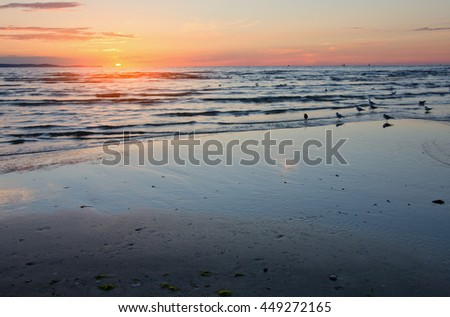 Sunset over the Baltic Sea, Poland
