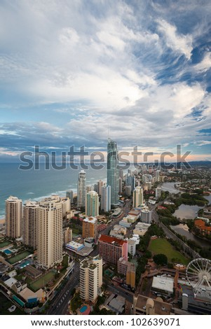 Sunset over the Gold Coast, Queensland, Australia
