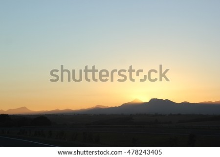 Sunset over the peaks