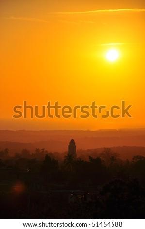 Sunset over Trinidad, Cuba - stock photo