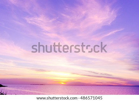 Sunset over Water Magnificent View