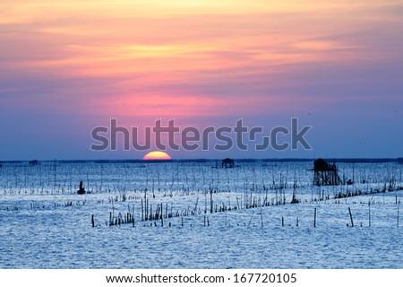 Sunset pattaya thailand - stock photo