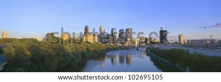 Sunset, Philadelphia, Pennsylvania - stock photo