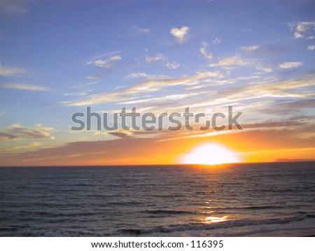 Sunset, Point Reyes, California - stock photo