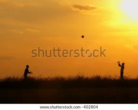 Sunset's sport - stock photo