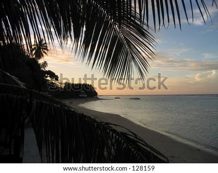 Sunset, Samoa - stock photo
