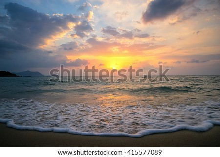 Sunset sea