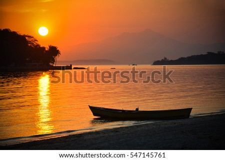 Sunset, sea