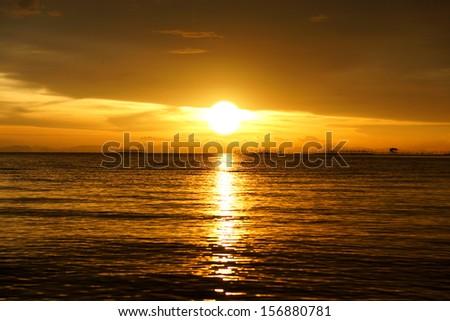 sunset sky - stock photo