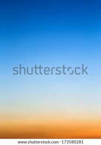 Sunset sky as background.  - stock photo