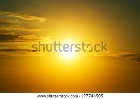 Sunset sky background and clouds. Nature composition.