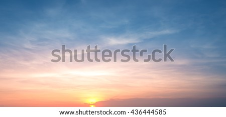 sunset sky background,sunset with clouds,sunset on the beach - stock photo
