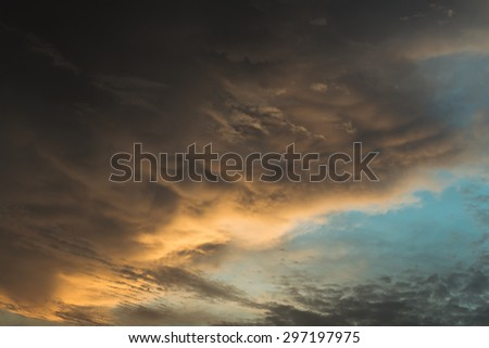 sunset sky for background