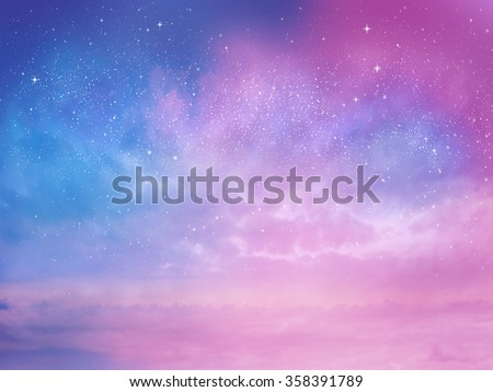 Sunset sky star background - stock photo