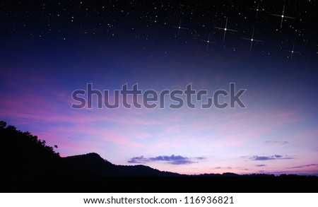 sunset sky star background light sunrise nature for design - stock photo