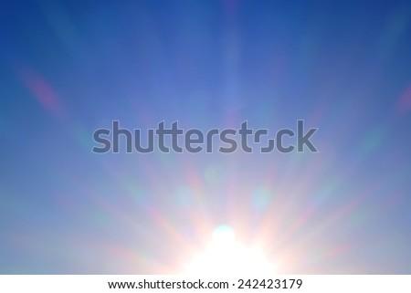 sunset sky sun shine - stock photo
