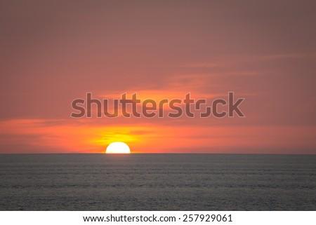 sunset  sundown dusk twilight nightfallc skyline horizon - stock photo
