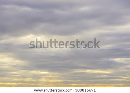 Sunset sunrise with clouds - stock photo
