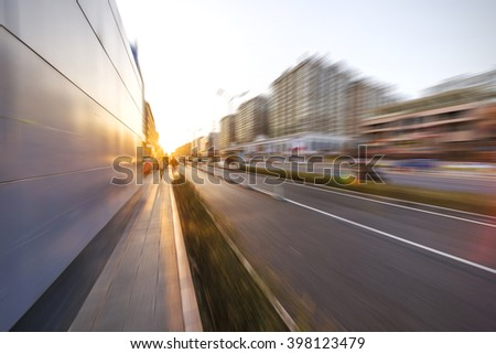 Sunset Urban Road blur