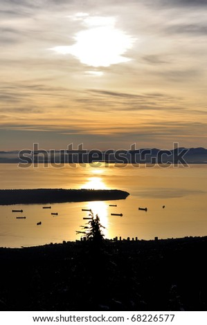 Sunset View from Grouse Mountain