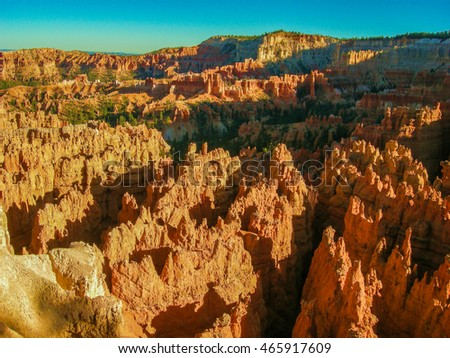 sunset views of the small park Bryce Canyon National Park located in the southwestern United States in the state of Utah