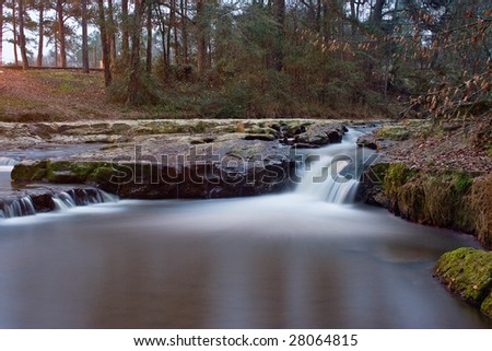 Sunset waterfall in mississippi - stock photo