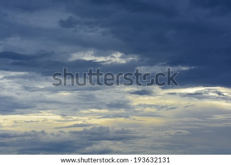 Sunset with Cloudy - stock photo