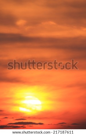Sunset Wonder - Nature and Color Background - Peace and Tranquility