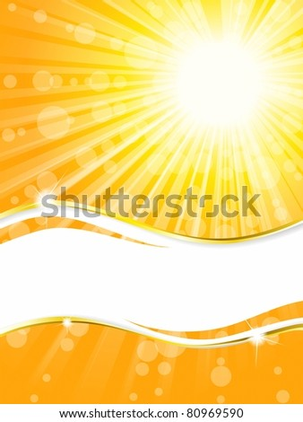 Sunshine banner, vertical (jpg); vector version also available - stock photo