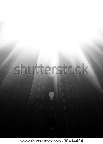 Sunshine black and white background - stock photo
