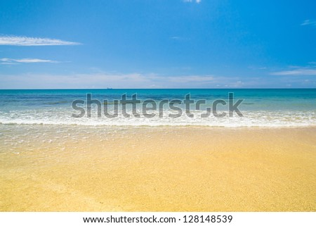 Sunshine Days Serene Waters - stock photo