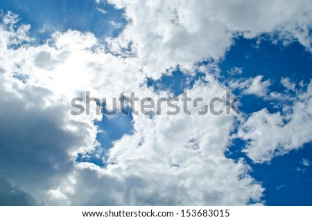 Sunshine from cloud - stock photo