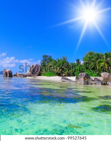 Sunshine Getaway Dream Summertime - stock photo