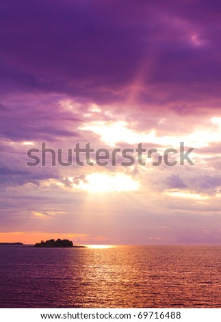 Sunshine Heaven Wallpaper - stock photo