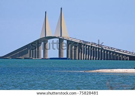 Sunshine Skyway Bridge,Tampa Bay,Florida - stock photo