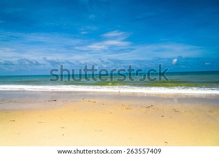 Sunshine Surf Vacation Wallpaper  - stock photo