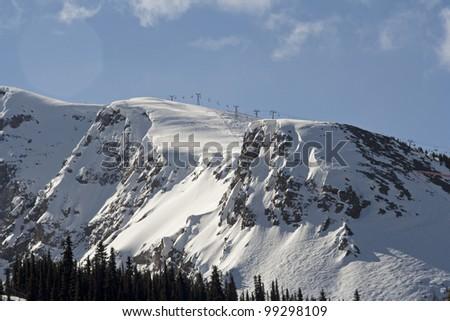 Sunshine Village Ski Resort near Banff, Banff National Park, Alberta, Canada. - stock photo