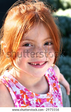 Sunshine with Freckles - stock photo