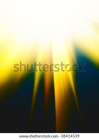 Sunshine yellow background - stock photo