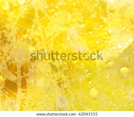 Sunshine Yellow Floral Grunge Textured Abstract