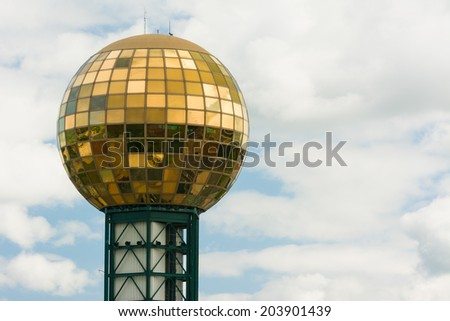 Sunsphere in Downtown Knoxville Tennessee. United States of America - stock photo